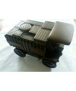 Vintage Banthrico Car Coin Bank 1906 Mack Cargo Truck Working Wheels fro... - $16.00