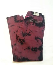 "ROBIN'S JEANS MOTORCYCLE WOMEN WINE STUDDED JEANS SIZE 30 W BY 30"" L  - $85.00"