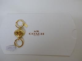 COACH SIGNATURE C GOLD Turn Lock Valet Key Chai... - $33.65