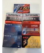 Blank Sealed Cassette Tapes Lot of 7 Sony TDK RCA 4 90 min 3 60 min - $18.69