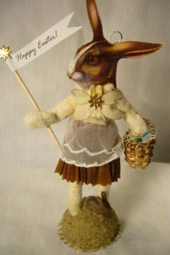 Vintage Inspired Spun Cotton, Bunny Faced Girl, no. 174
