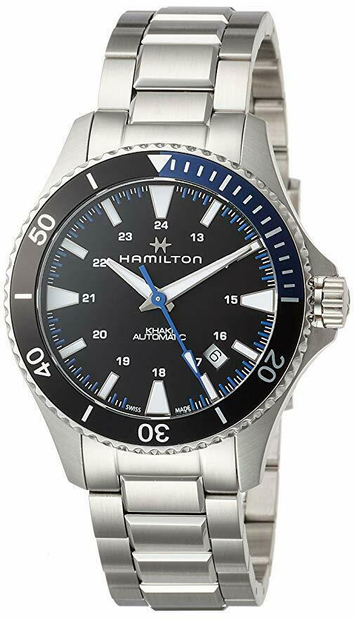 Hamilton Men's H82315131 Khaki Scuba Automatic Black Dial Stainless 40mm Watch