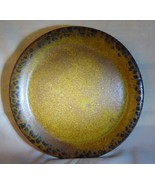 Nelson McCoy CANYON Stoneware SALAD PLATE Flair Edge Leopard Spots Burnt Umber - $10.00