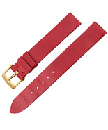 Van Cleef & Arpels 14mm Red Leather Yellow Gold Plated Buckle Womens Wat... - $349.00