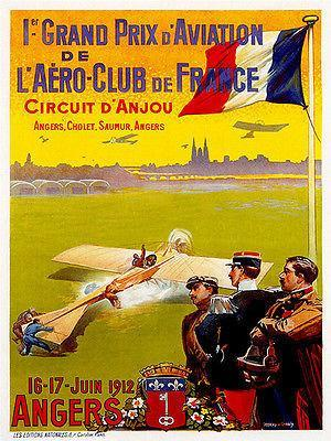 Primary image for 1912 Grand Prix D' Aviation Air Race - Promotional Advertising Poster