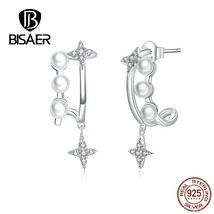 Star Shape 925 Sterling Silver Elegant Zircon Star Earrings Wedding Pear... - $24.69