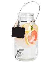 Outdoor Glass Beverage Dispenser with Stainless Steel Spigot, Handle & H... - $36.39 CAD