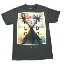 Billabong Herren T-Shirt Größe S Meliert Grau 50/50 Polyester Baumwolle ... - $17.72