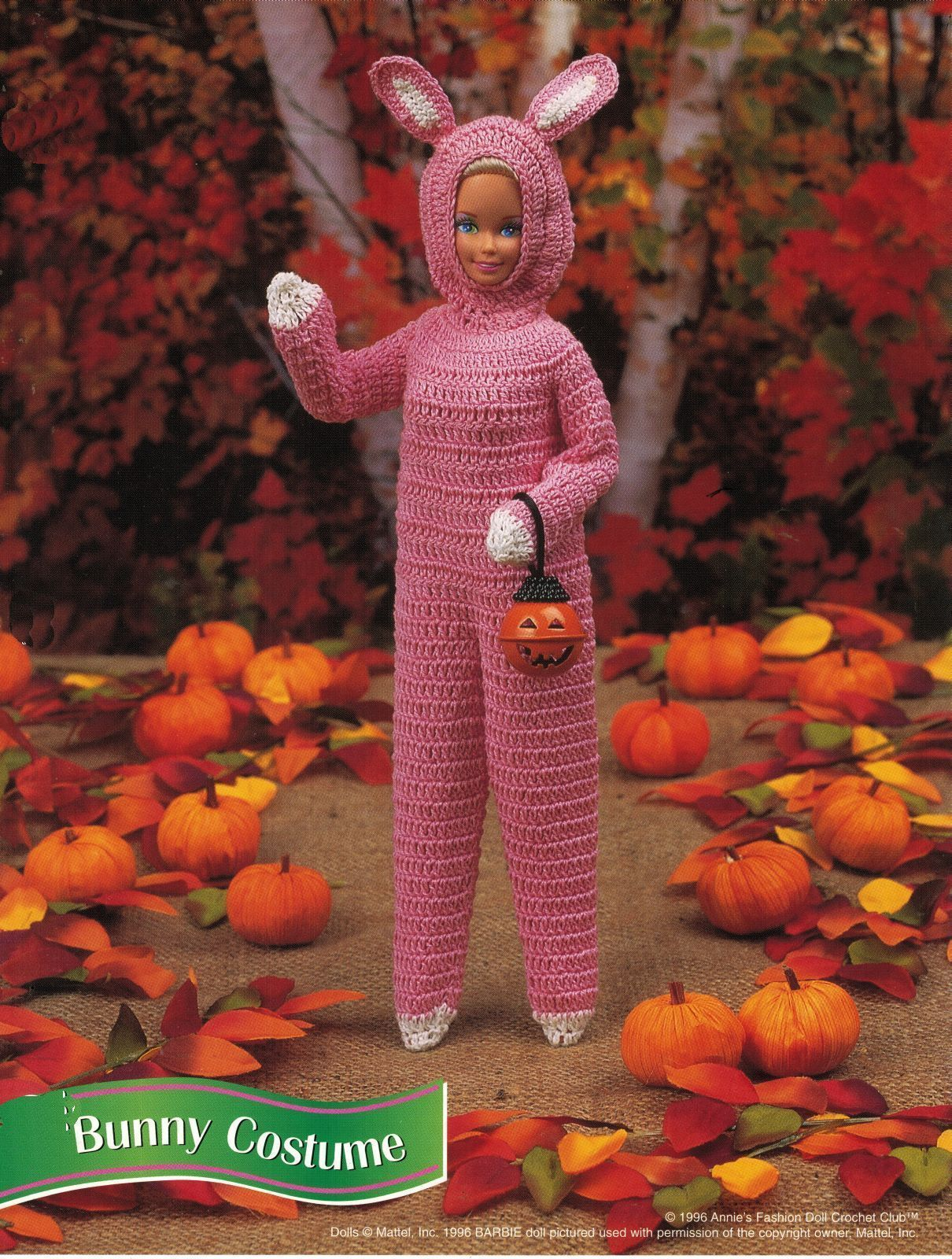 Easter Bunny Costume Dress Hat Suit 3 Sizes Barbie Doll Crochet Patterns