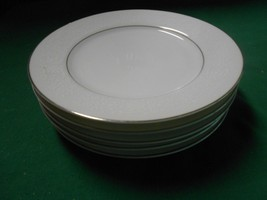 """Magnificent China by BRENTWOOD """"White Lace"""" Pattern 5 BREAD-SALAD-DESSER... - $15.51"""