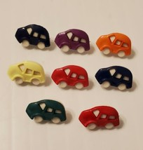 "Colorful Cars Beetle Novelty Buttons Sewing, Crafting Quilting 1"" Shank ... - $4.74"