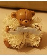 Tiny brown Bear MINIATURE Christmas Holiday Ornament Dollhouse Doll Decor - $13.06