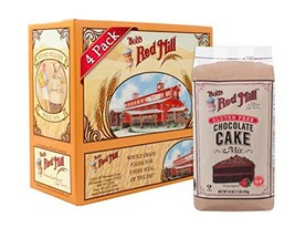 Bob's Red Mill Gluten Free Chocolate Cake Mix, 16-ounce Pack of 4