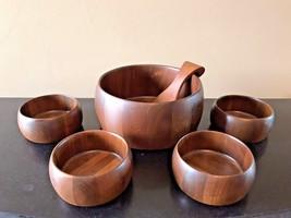 Vintage Heirloom Solid Walnut Ware Wood Salad Bowl Serving Set Lebanon USA - $24.95
