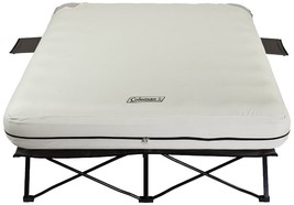 Airbed Cot Steel Frame Camping Sleeper Bed W/ Pump Included Queen Size  - $202.83