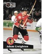 Adam Creighton ~ 1991-92 Pro Set #42 ~ Blackhawks - $0.05