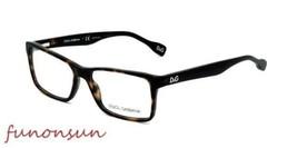 Dolce & Gabbana Women's Eyeglasses D&G DD1233 502 Havana Plastic Rectang... - $105.73