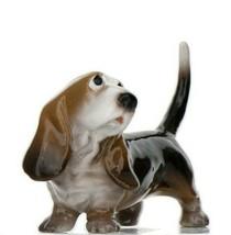 Hagen Renaker Dog Basset Hound Papa Ceramic Figurine