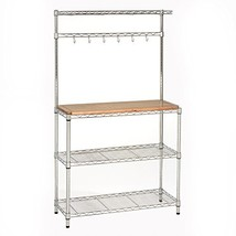 "Seville Classics Baker's Rack for Kitchens, Solid Wood Top, 14"" x 36"" x ... - $106.19"