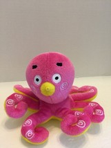 "Aurora World Plush Baby Toy Pink Octupus Really Soft & Cute 6 1/2""T - $5.81"