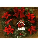 Handcrafted Birdhouse Christmas Wreath - $16.03