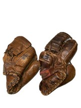 Bundle Of 2 Antique Baseball Gloves Rawlings And Reach - $148.50