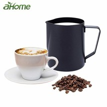 Fypo® Black Stainless Steel Espresso Cup Milk Frother CoffeeCup Cappucci... - $23.43 CAD