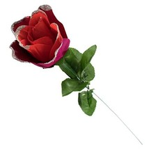 TRIXES Artificial Rose - Single Stem- Gift Wrapped  Red with Glitter -Ti... - $2.47