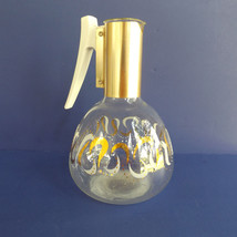 Vtg MCM Mid Century Modern COLONY Glass Coffee Pot Carafe Gold Swirl Atomic - $14.80
