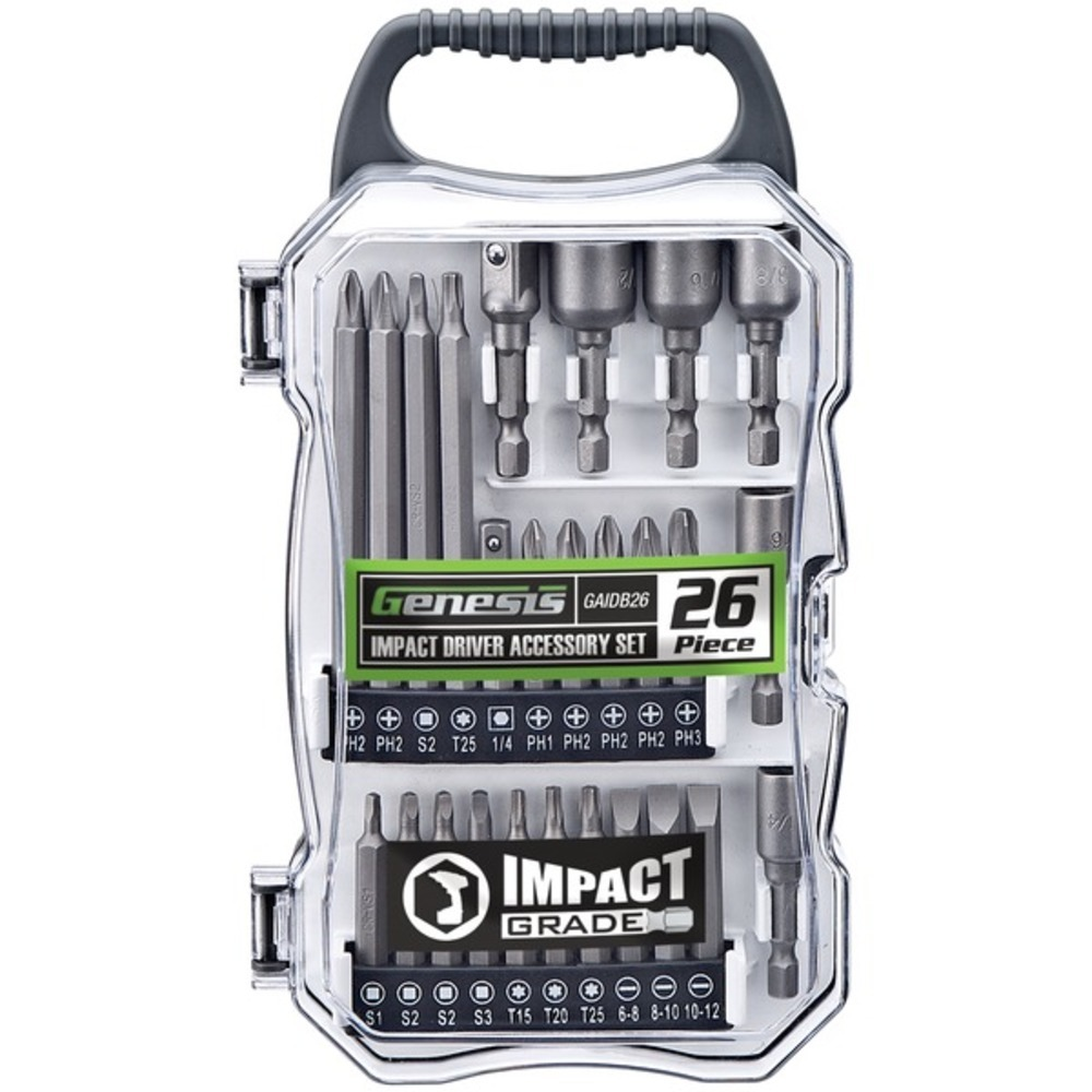 Primary image for Genesis GAIDB26 26-Piece Impact Driver Accessory Set