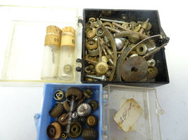 2 TRAYs OF ANTIQUE POCKET WATCH CROWNS AND STEM PARTS FOR RESTORATION PARTS - $188.67