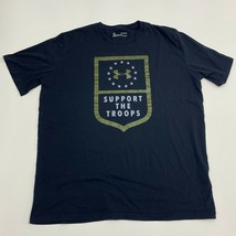 Under Armour T-Shirt Mens XL Black Support the Troops Short Sleeve Casual - $18.95