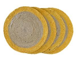 Nature4u 100% Jute Round Woven Braided PLACEMAT (Set of 2, 4 & 6),  Ochre - $17.66+