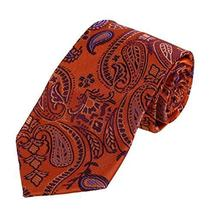 DAA7B01C Orange Purple Paisley Interview Mens Tie Woven Microfiber Inspire Neckw - $26.99