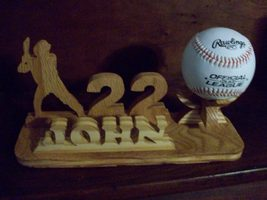 Combination baseball holder,name display and un... - $26.00