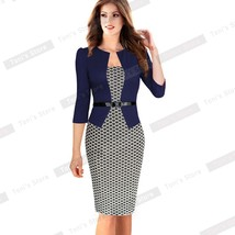Women's Elegant Career Bodycon Evening Party Wear to Work Office Busines... - $35.00