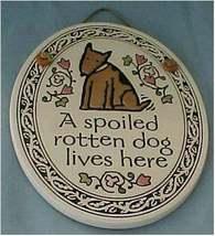 Ceramic Oval Wall Plaque, Spooner Creek, Dog, Puppy New - $18.00