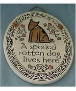 Ceramic Oval Wall Plaque, Spooner Creek, Dog, Puppy New - $18.00