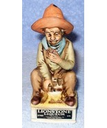 Lionstone Sculptured Ceramic Decanter Cowboy Eating 1975 Old West Series - €18,29 EUR