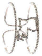 Goldtone Rhinestone Cuff Bracelet Louisiana State Pride image 3