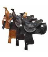 "Western Horse Miniature Leather Saddle 5"" Seat Decoration Novelty Color ... - $29.90"