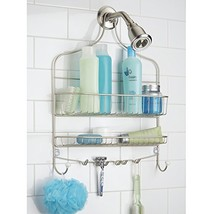 mDesign Wide Shower Caddy, Storage for Shampoo, Conditioner, Soap (Satin... - $30.57