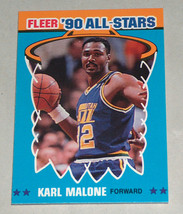 1990 Fleer #7 Karl Malone Utah Jazz '90 All-Star Basketball NBA Carte Vg-Ex - $7.35