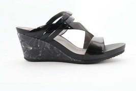 Abeo Lexi Sandals Wedges Black Patent Women's Size 8 Neutral Footbed ( ) - $65.10