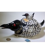 Loon Tea Pot hand sculpted in USA from a lump of clay totally unique  - $89.00