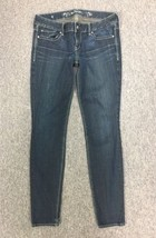 Express Straight Skinny Jean Cotton/2% Spandex Sz 6R Dark Wash - $9.99