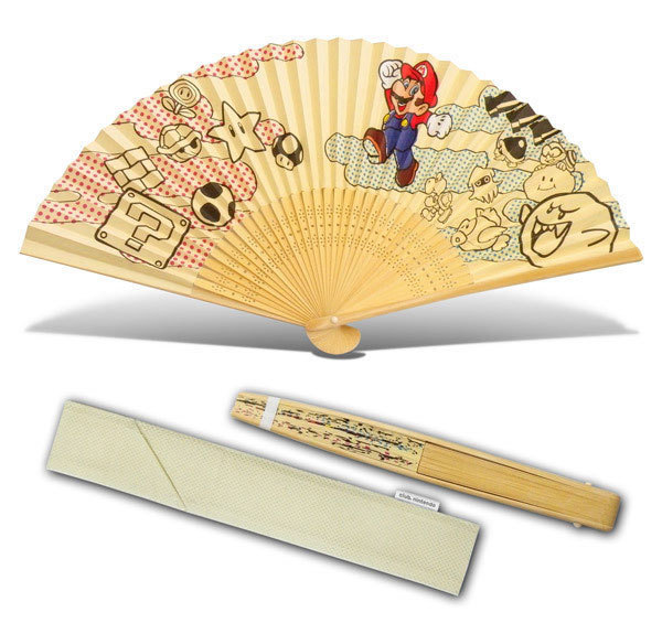 Super Mario Brothers Rare Brand New Sensu Fan * Club Nintendo