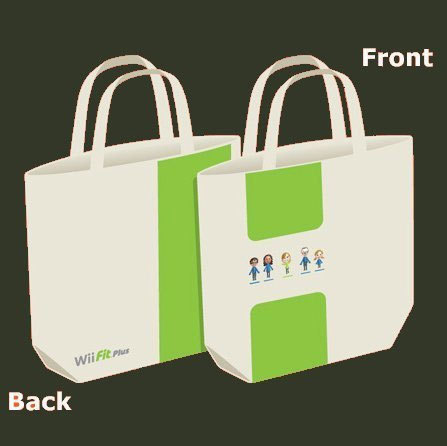 Wii Fit Plus Brand New Large Canvas Tote Bag * Club Nintendo