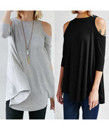 Hot Fashion Womens Summer Long Sleeve Cotton Tops Casual Blouse Loose Of... - $36.80