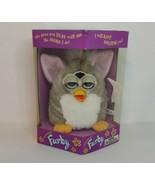 Vintage 1998 Furby by Tiger, Grey & White w/ pink ears, Blue Eyes - $89.09